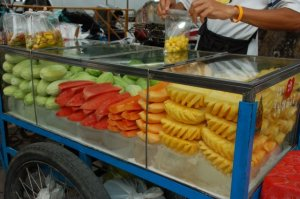 Fruit stalls are everywhere and an inexpensive way to get 1 of your 5 a day!