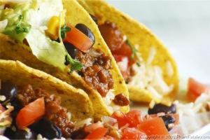 Veggies, salsa and deep fried taco goodness!